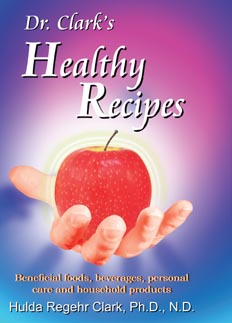 Book, Dr. Clark's Healthy Recipes, softcover